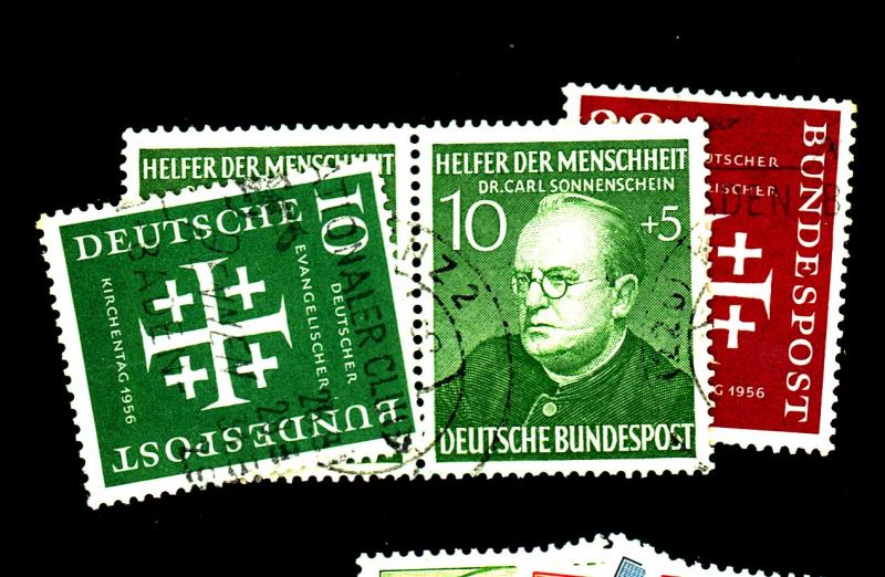 Germany 744-5 B328 (2) Used F-VF Cat$21
