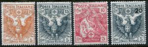 ITALY # B1 - B3 & B4 Fine Light to Heavy Hinged Set - ITALIAN FLAG EAGLE - S5716