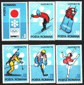 Romania. 1971. 2984-89. Sapporo Winter Olympics. MNH.