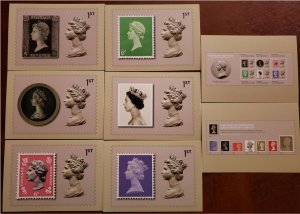 HERRICKSTAMP GREAT BRITAIN Sc.# MH468 Machin 50th Anniv. PHQ Cards