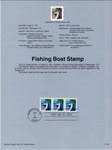 US SP939 Fishing Boat 2529 Souvenir Page FDC