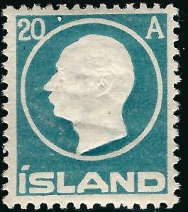 Mint Iceland 1912 #94 F-VF $52.50...high quality stamp!!