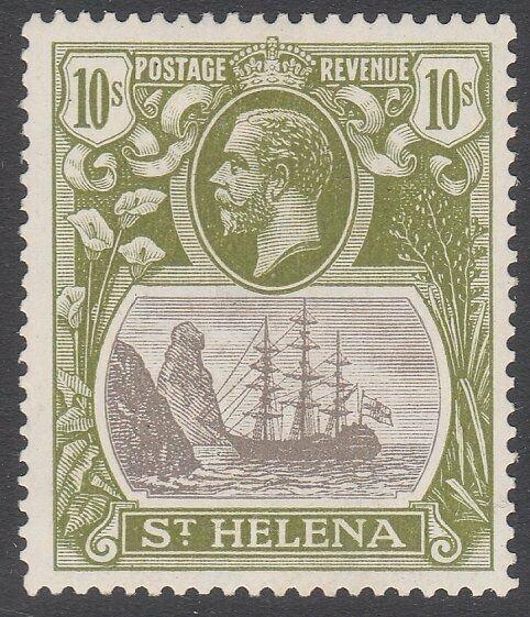 ST HELENA 1922 GV 10/- SG112 fine mint - lightly hinged.....................C165