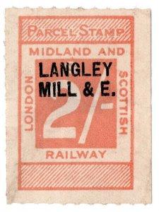 (I.B) London Midland & Scottish Railway : Parcel 2/- (Langley Mill)