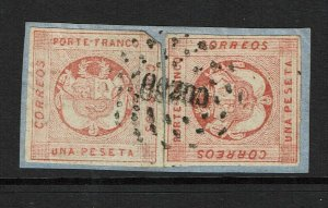 Peru SC# 10 (x2) On Piece / Cuzco Cancel - S8846
