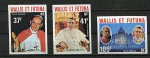 Wallis & Futuna Is. 1979 Imperf  Unused Unlisted  Popes: Paul VI & John Paul I