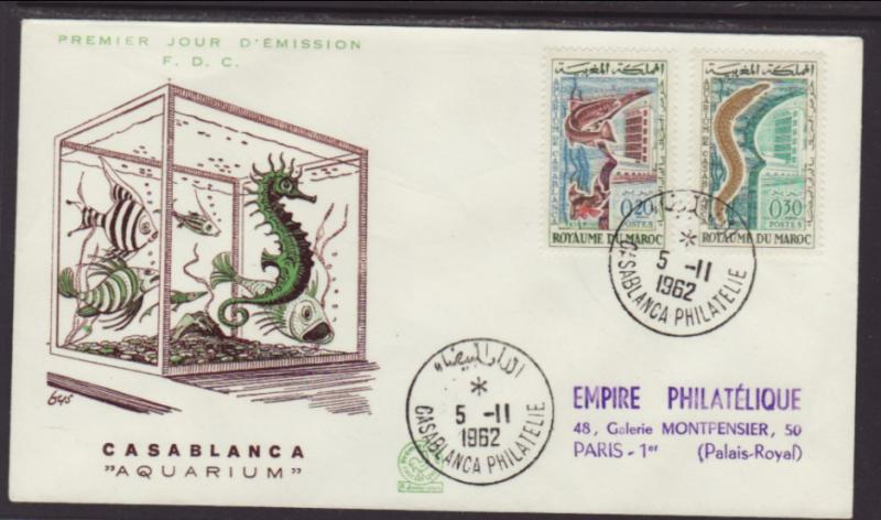 Morocco 68-69 Aquarium Typed FDC