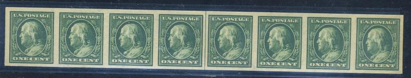 383H MINT Strip of 8 with L/P VF OG NH Cat$175