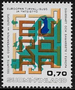 Finland #529 MNH Stamp - European Security