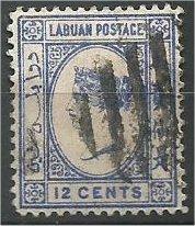 LABUAN, 1892, used 12c, Queen Victoria  Scott 37