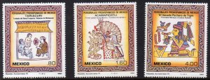 Mexico Mint 1285-7 Early Art 1982