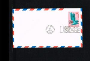 1969 - VN/UNO New York FDC Prepaid cover - Postal stationery - Transport - Ai...