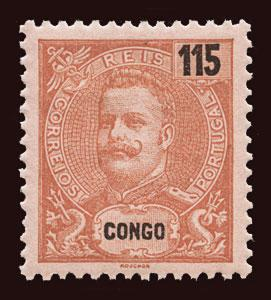PORTUGUESE CONGO Scott #28 1903 King Carlos unused HR disturbed gum