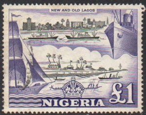 Nigeria 1953 £1 New and old Lagos used