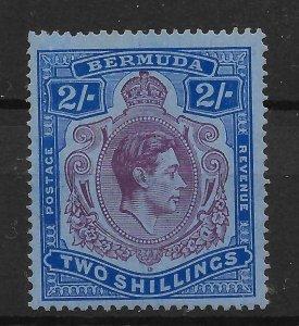 BERMUDA SG116a 1940 2/= DEEP REDDISH PURPLE ON GREY-BLUE PERF 14 MTD MINT