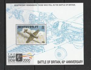 Montserrat 2000 The stamp show & 60th anniv Battle of Britain MS UM/MNH SGMS1160