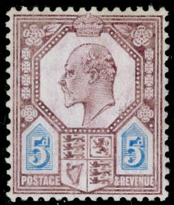 SG244 SPEC M29(-), 5d very pale purple & ultramarine (CHALKY), M MINT. UNLISTED.