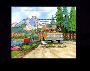 BHUTAN - 1991 - DISNEY - MICKEY - MINNIE - WONDERS - ALASKA - MINT S/SHEET!