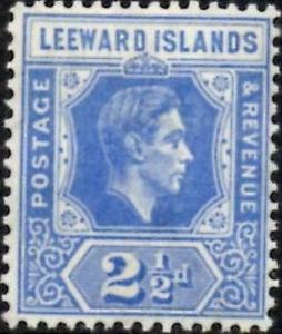 Leeward Islands 1938 KGVI  2.5d Bright Blue  SG.105  lmm