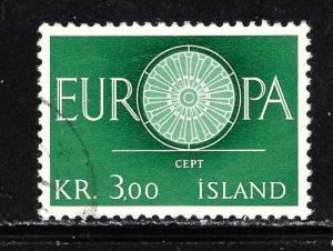 Iceland 327 Used 1960 Europa