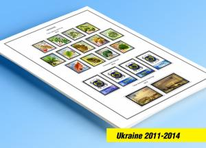 COLOR PRINTED UKRAINE 2011-2014 STAMP ALBUM PAGES (40 illustrated pages)