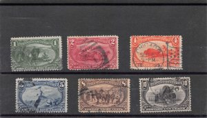Lot of 6 1898 U.S. Used Trans Mississippi Expo Stamps Scott # 285-290 #145202 X