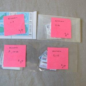 Micronesia - Scott 1-4, 5-20, C1-C3, 21, C4-C6  MNH