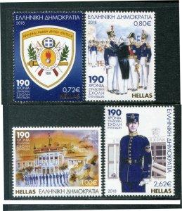 HERRICKSTAMP NEW ISSUES GREECE Sc.# 2843-46 Hellenic Military Academy