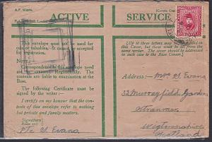 EGYPT 1941 'Honour' envelope used  Br FPO 201 - Army Post 10m..............53677
