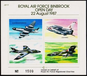 Great Britain. 1987 RAF Binbrook Open Day. Sheet No.1500. Self Adhesive.
