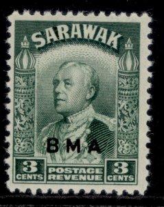 SARAWAK GVI SG128, 3c green, NH MINT.
