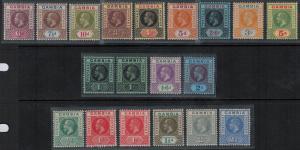 Gambia 1912-1922 SC 70-86,71a,81a Mint SCV $243.05 Set