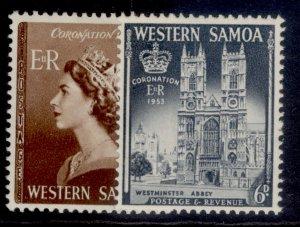 SAMOA QEII SG229-230, complete set, NH MINT.