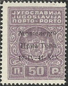 MONTENEGRO 1941 SEGNATASSE POSTAGE DUE TASSE TAXE 50 P MNH