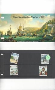 Isle of Man 308-11 Myles Standish/Mayflower 1620  MNH Presentation Folder