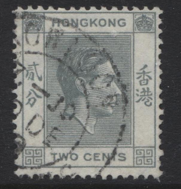 Hong Kong - Scott 155 - KGVI Definitive Issue- 1938 - FU - Single 2c Stamp