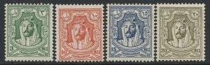 N988 - TRANS JORDAN 1942 Lithograph Issue, SG 226-29 MLH, cv £58