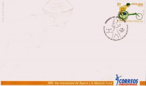 COSTA RICA INTL. YEAR of SPORTS and PHYSICAL EDUCATION Sc 588 FDC 2005