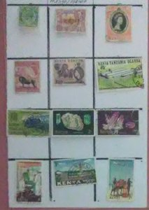 12 Valuable desirable stamps from Kenya Uganda for only $1.00