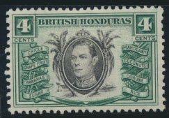 British Honduras  SG 153 SC # 118  Used  Green shade please see scan