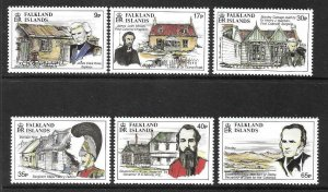 1994  FALKLAND ISLANDS  -  SG.  713 / 718  -  FOUNDING OF STANLEY  -  MNH