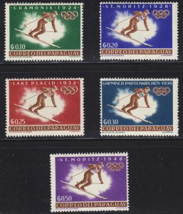 Paraguay Scott 752-56 F to VF mint OG HR.