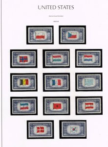 US STAMP US STAMP #909-21 Complete 1943-44 Overrun Countries Issue MNH