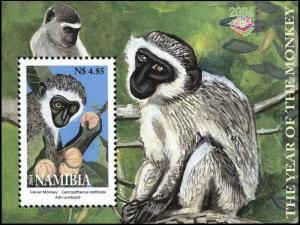 Namibia. 2004. The Year of the Monkey (MNH OG) Souvenir Sheet