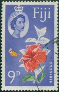 Fiji 1962 SG315 9d Hibiscus QEII FU