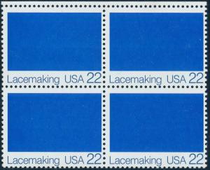 #2354b LACEMAKING BLK/4 WHITE OMITTED MAJOR ERROR -- OG NH -- HV4784