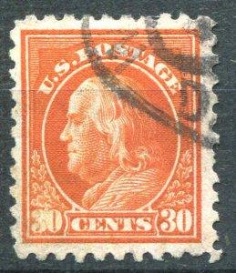 US Stamp Scott # 439  30¢ Red Orange Franklin 1914