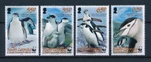 [53617] South Georgia 2008 Birds Vögel Oiseaux Ucelli WWF Penguin MNH