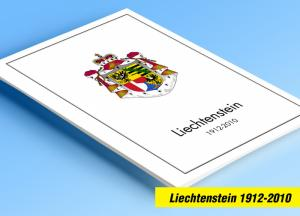 COLOR PRINTED LIECHTENSTEIN 1912-2010 STAMP ALBUM PAGES (166 illustrated pages)