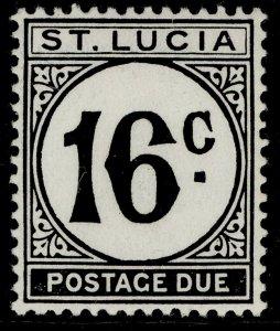ST. LUCIA GVI SG D10a, 16c black, M MINT.